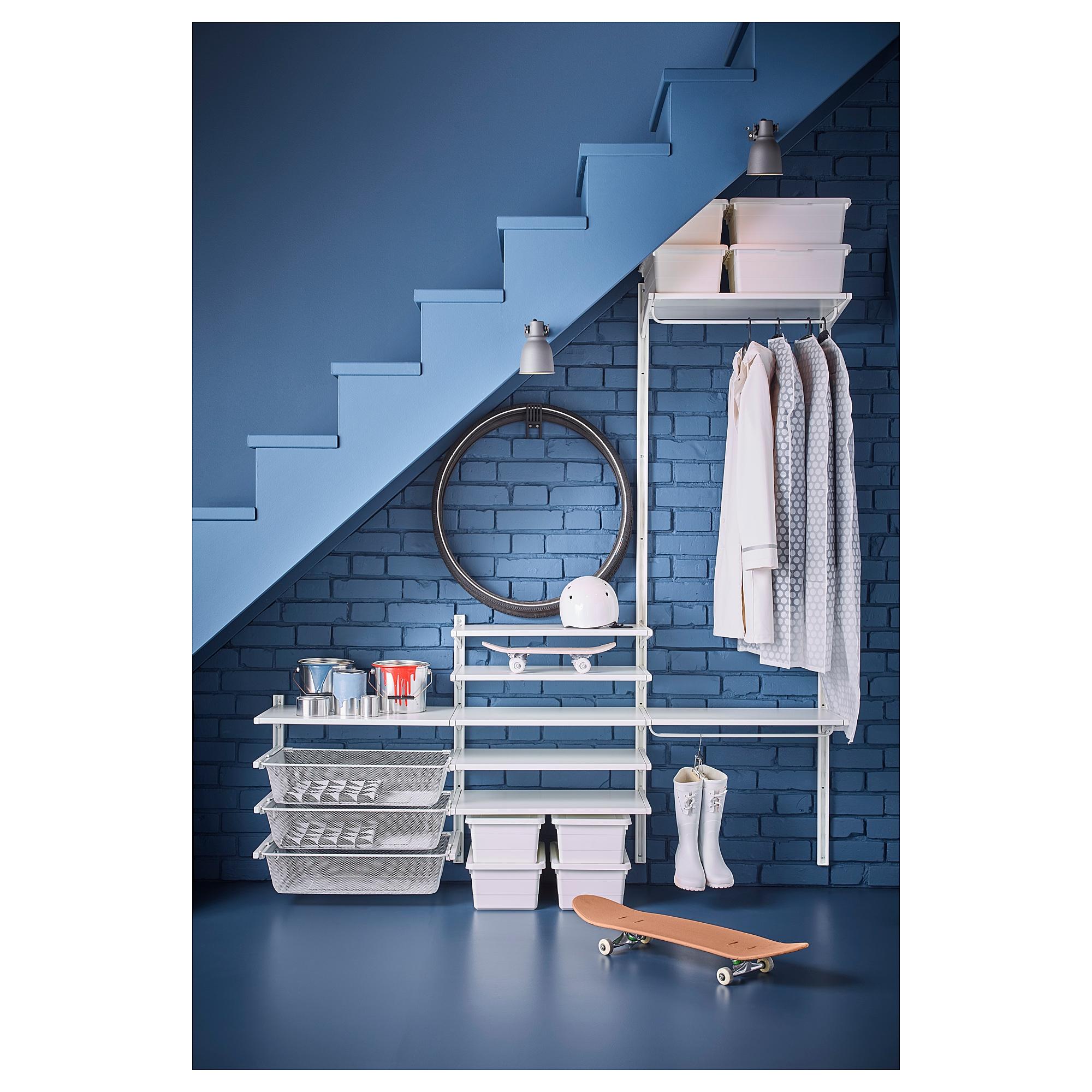 ALGOT wall upright/shelf/basket