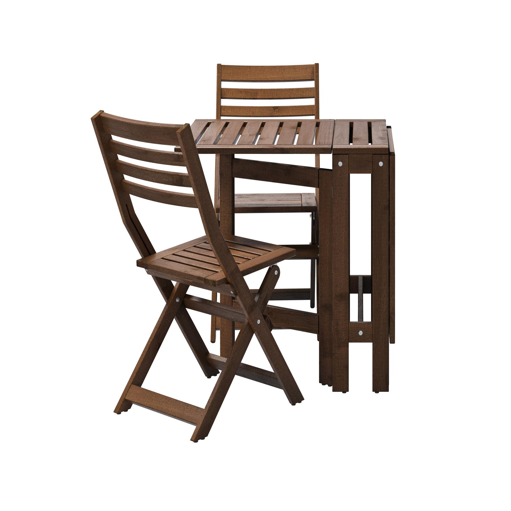 Pplar mesa 2 sillas plegables exterior for Sillas de exterior ikea