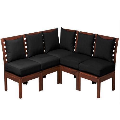 ÄPPLARÖ/HÅLLÖ corner sofa 3+2, outdoor
