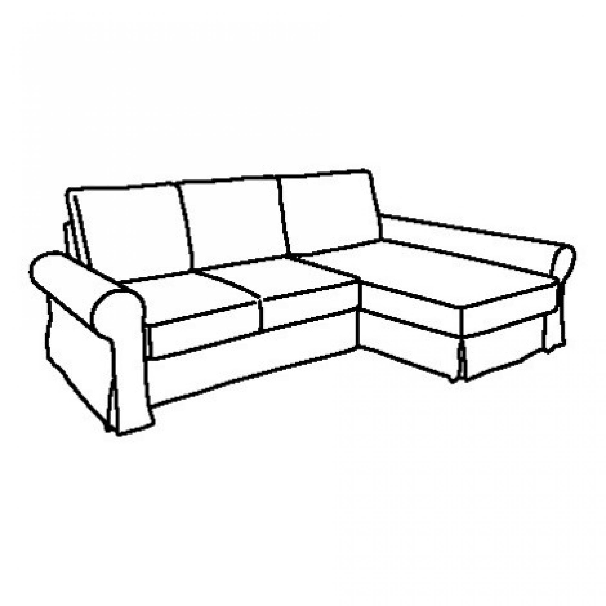 BACKABRO Estruc sofá cama 3 plazas con diván dcha/izda