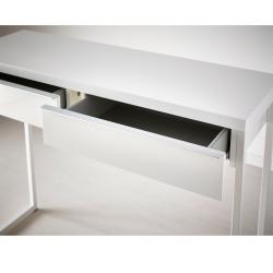 BESTÅ BURS Escritorio 120x40 cm con cajones blanco brillo