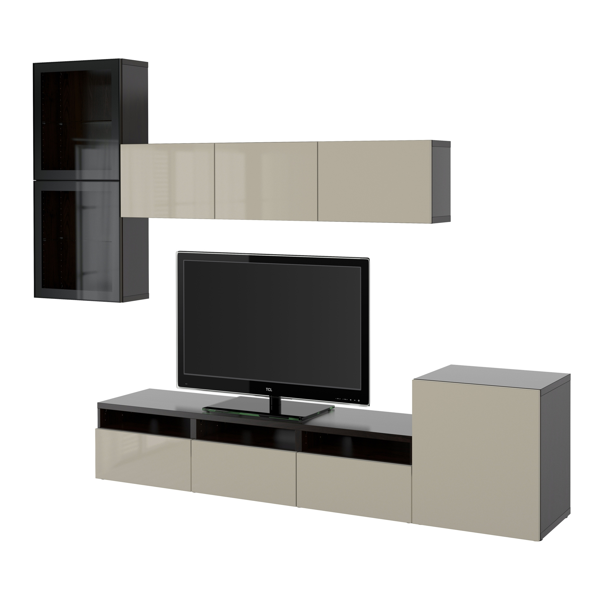 best tv storage combination glass doors. Black Bedroom Furniture Sets. Home Design Ideas