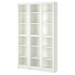 BILLY/OXBERG Bookcase with glass-doors