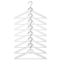 BUMERANG Wooden hanger, 8 units