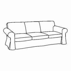 1 x EKTORP Estructura de sofá 3 plazas