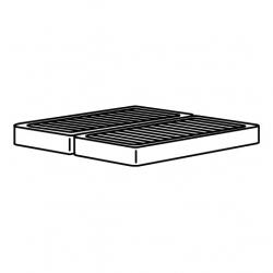 1 x ESPEVÄR Base de cama 180