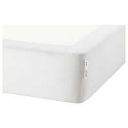 1 x ESPEVÄR Funda base de cama blanco, full
