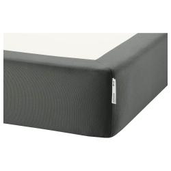 1 x ESPEVÄR Cover base de cama gris oscuro, King