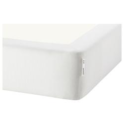 1 x ESPEVÄR Funda base de cama blanco, King