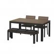 FALSTER Mesa+2 sillas+banco, exterior