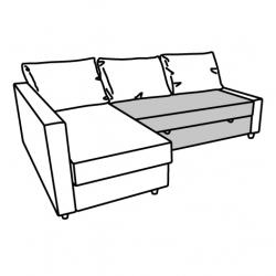 1 x FRIHETEN Módulo sofá cama gris ocuro