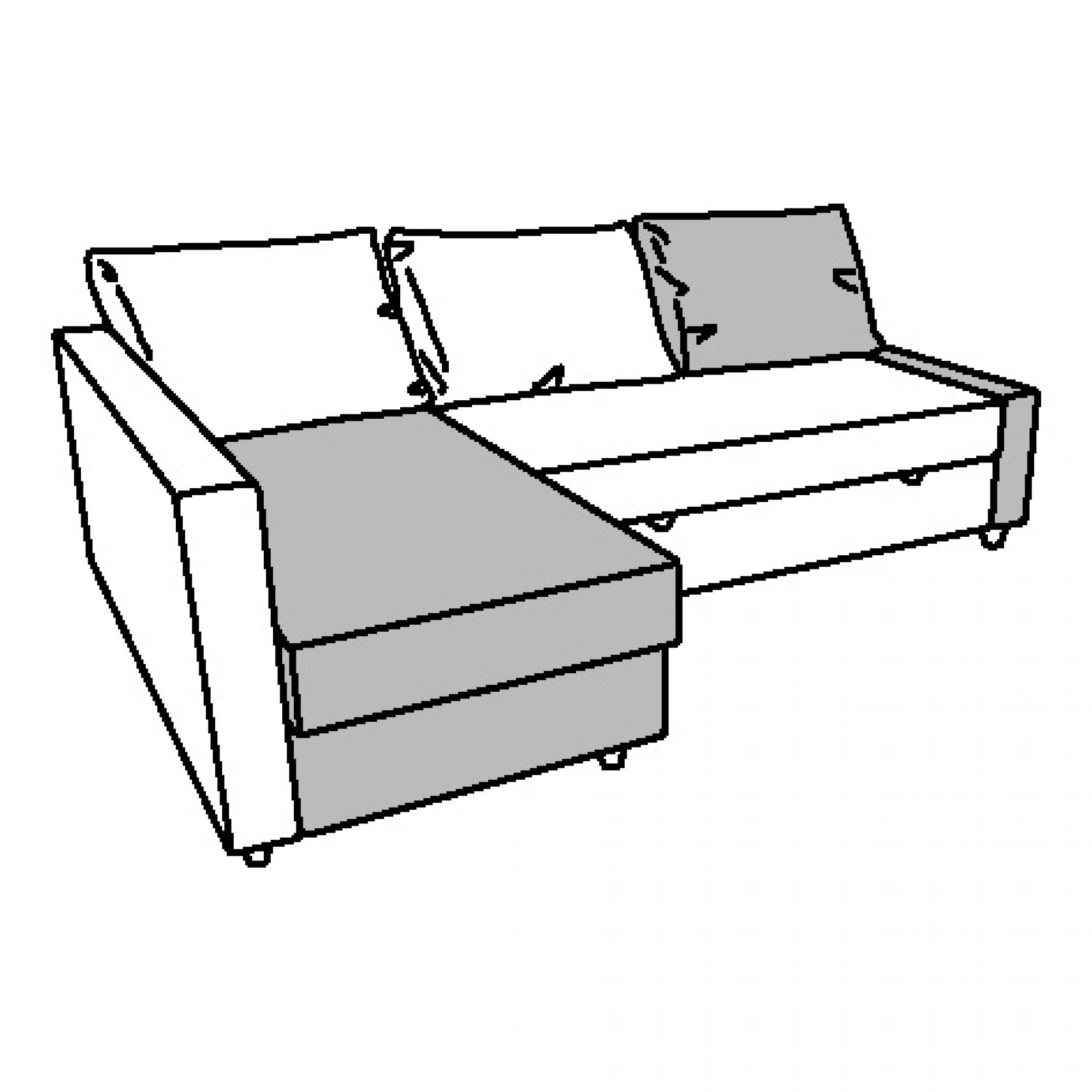 FRIHETEN Módulo chaise longue sofá cama BOMSTAD negro