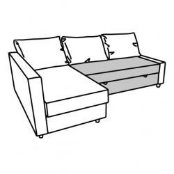 1 x FRIHETEN Seat section for corner sofa-bed BOMSTAD black