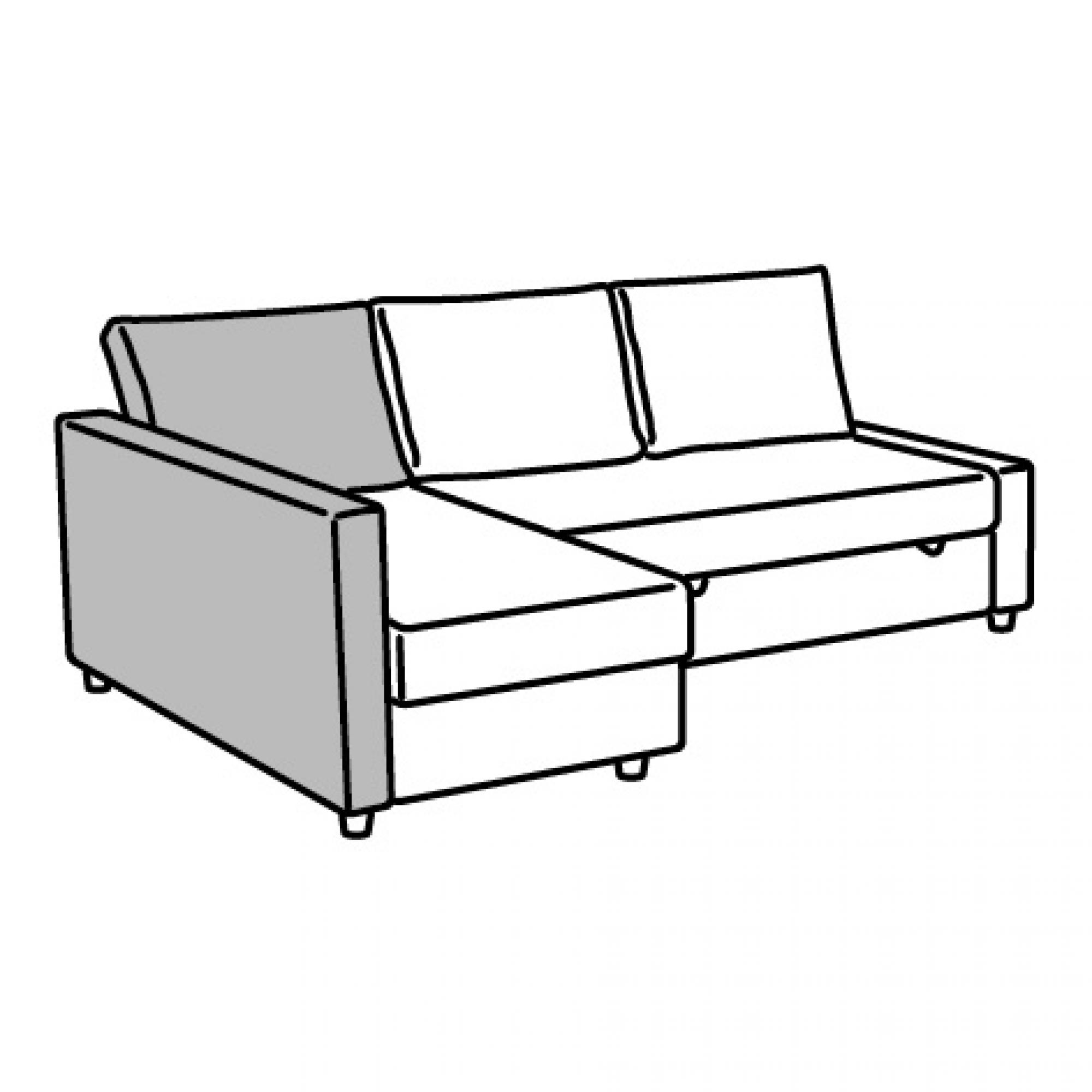 FRIHETEN backrest for corner sofa-bed dark brown