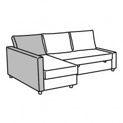 1 x FRIHETEN Respaldo para sofá cama BOMSTAD negro
