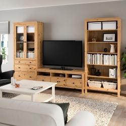 HEMNES Combinación de almacenaje para TV
