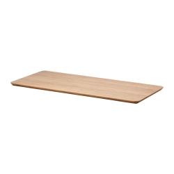 1 x HILVER Tablero para escritorio 140x65 cm marrón claro