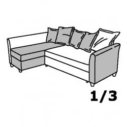 1 x HOLMSUND Módulo Chaise longue sofá cama