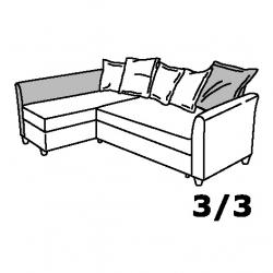 1 x HOLMSUND Reposabrazos y respaldar para sofá cama