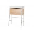 IKEA PS 2014 Secreter 90x44 cm blanco con chapa abedul
