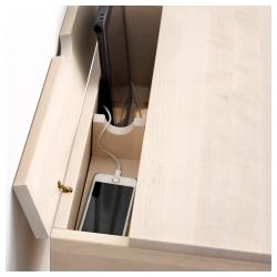 KNOTTEN Escritorio de pie 62x48 cm con almacenamiento y zona multimedia