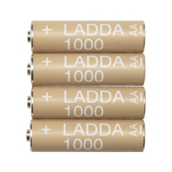 LADDA Pila recargable AA 1.000 mAh.