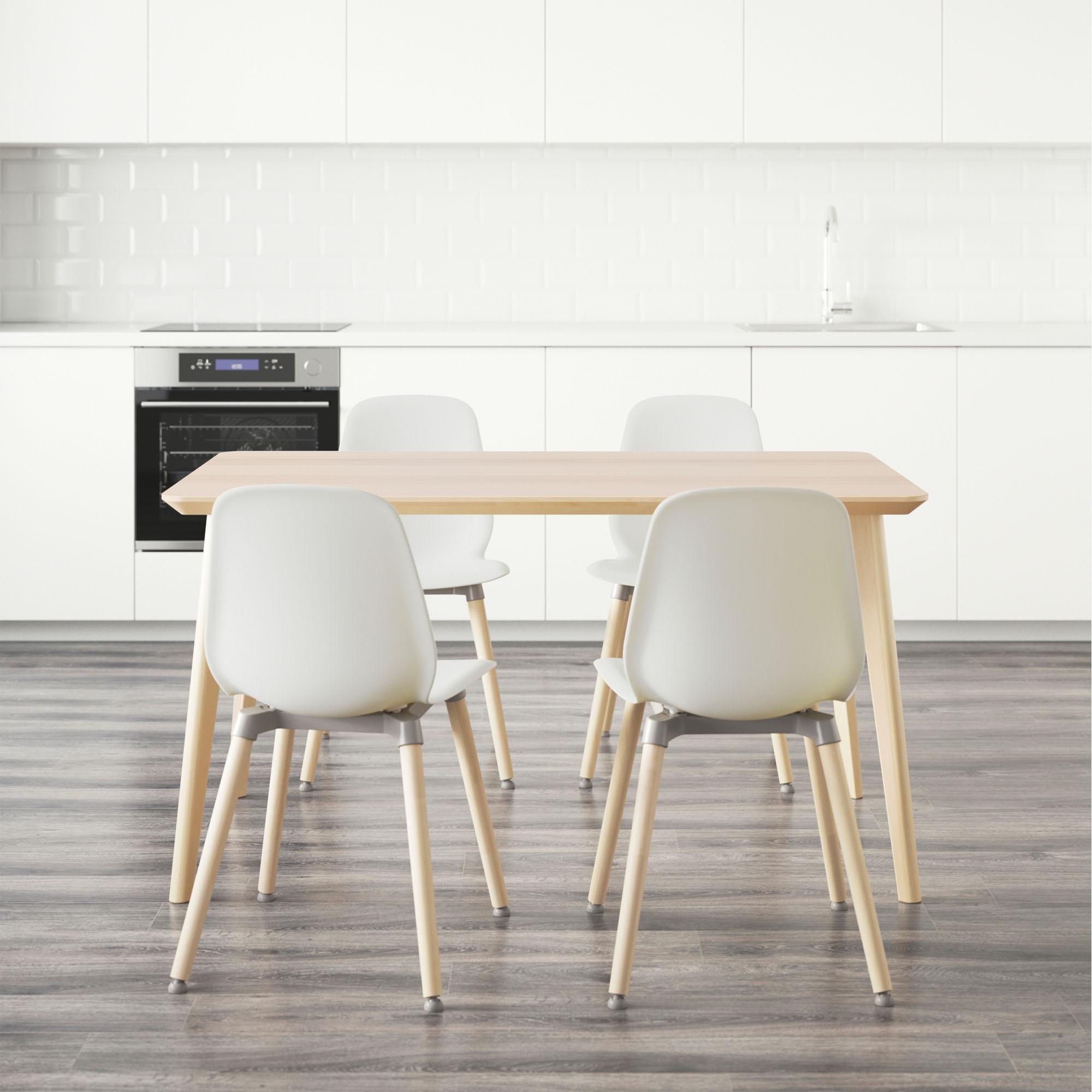 Lisabo mesa con 4 sillas for Ikea mesa de cristal