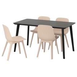 LISABO/ODGER Mesa con 4 sillas