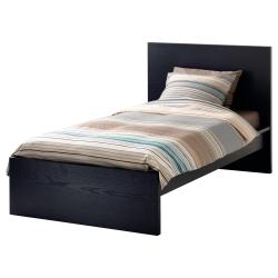 1 x MALM Estructura cama 90 negro-marrón