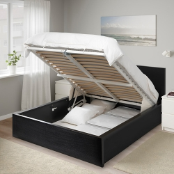 MALM Ottoman bed, queen size