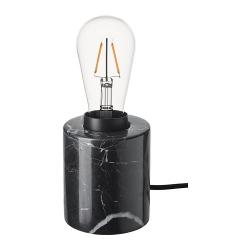 MARKFROST/LUNNOM Pie lámpara mesa+bomb
