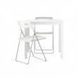 MELLTORP Mesa y 2 sillas plegables