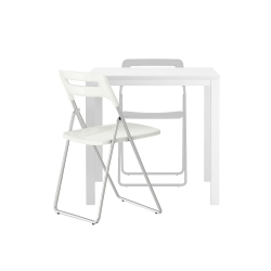 MELLTORP Mesa+2 sillas plegables