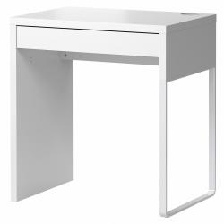 MICKE Escritorio 73x50 cm con cajón blanco
