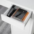 MICKE Escritorio 105x75 cm con cajones y almacenaje blanco
