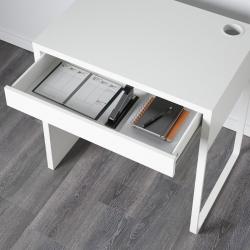 MICKE Escritorio 73x50 cm con gaveta blanco