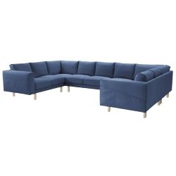 NORSBORG Funda sofá 9 plazas, forma de U