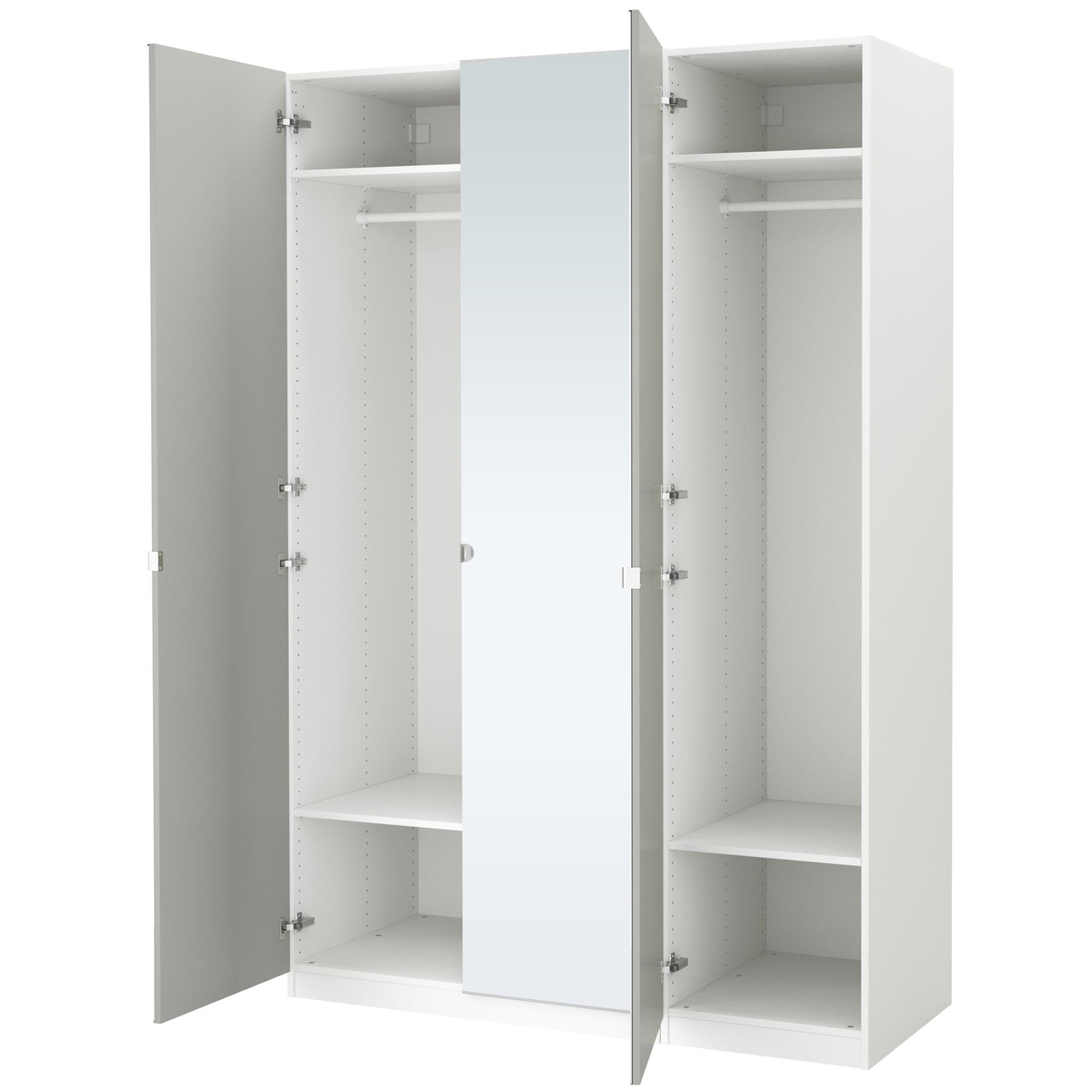 Pax wardrobe for Porte miroir pliante