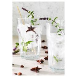 POKAL Vaso de vidrio templado con relieve, 35cl