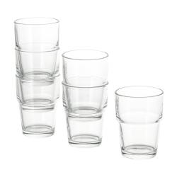 REKO Juego de 6 vasos de vidrio, 17cl