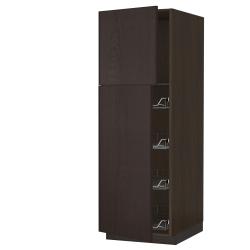 SEKTION High cabinet w door/wire baskets