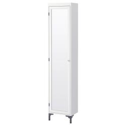 SILVERÅN Armario alto con puerta espejo y patas