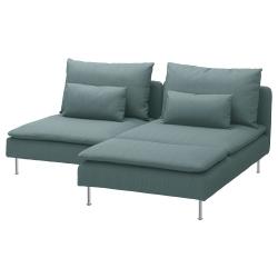 SÖDERHAMN Sofá 3 plazas con diván