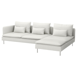 SÖDERHAMN Sofá 4 plazas con diván extremo abierto