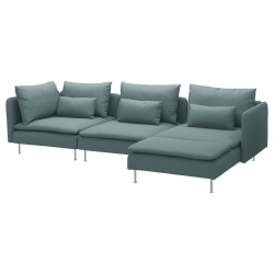 SÖDERHAMN Sofá 4 plazas con diván