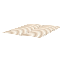 SONGESAND Queen bed, frame and LURÖY slatted bed base