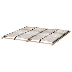 SONGESAND Cama 140, estructura con dos cajones y somier de láminas reforzadas LÖNSET