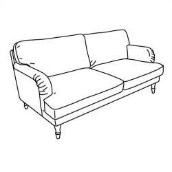 1 x STOCKSUND Estructura de sofá 3 plazas