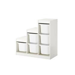 TROFAST Combinación almacenaje+estante