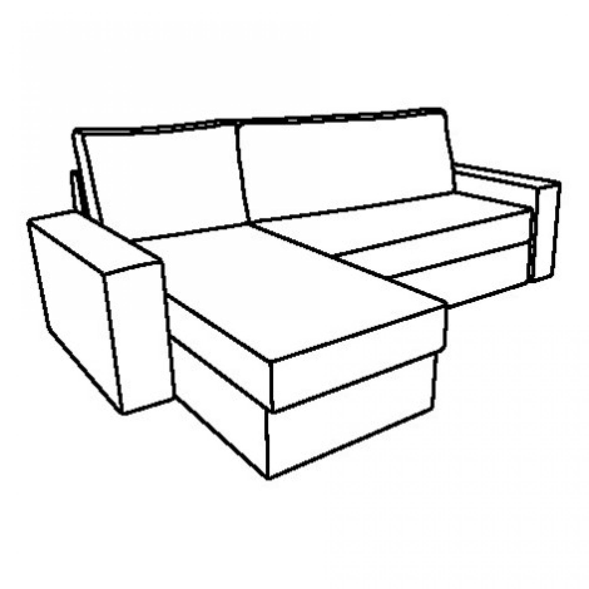 Vilasund estructura sof cama con chaiselongue for Estructura sofa cama